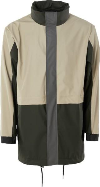 Color Block Track Suit Jacket - Rains DK - Green/Beige - Übergangsjacke