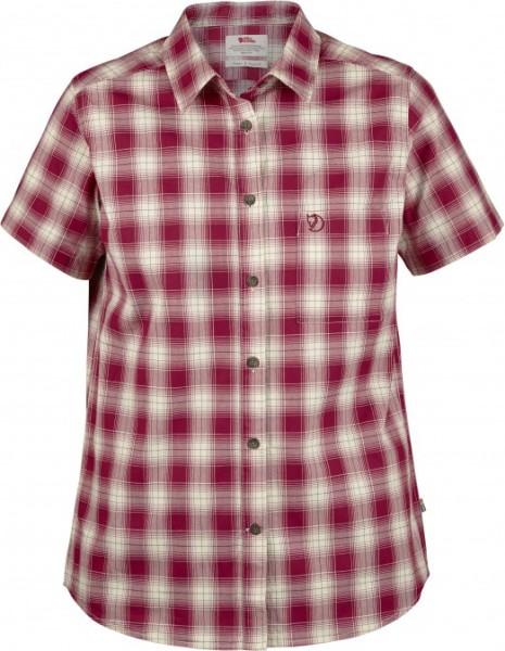 Fjällräven - Övik Check - Streetwear - Shirts & Tops - T-Shirts - plum