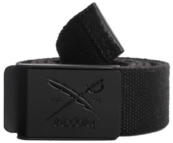 Iriedaily - Flag Rubber Belt - Accessories - Gürtel - Textilgürtel - Black
