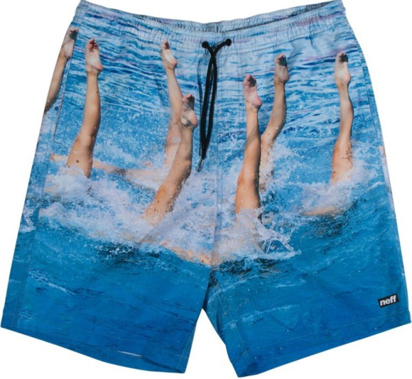 Neff - Synchronized Hot Tub Short - Boardshort - Blue