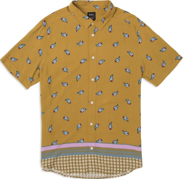 Lux Paisley Button-Up - RVCA - antique bronze - Herren Hemd