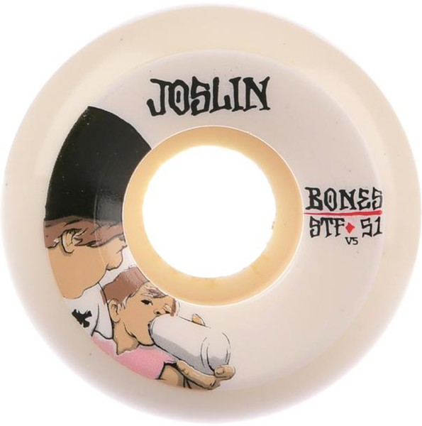 Bones - STF Joslin London 83B V5 - Boards & Co  -  Longboard  -  Longboard Wheels  -  LB Rollen-Wheels - White