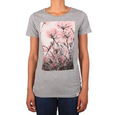 Stamp Flower Tee - T-Shirt - Iriedaily - Grey