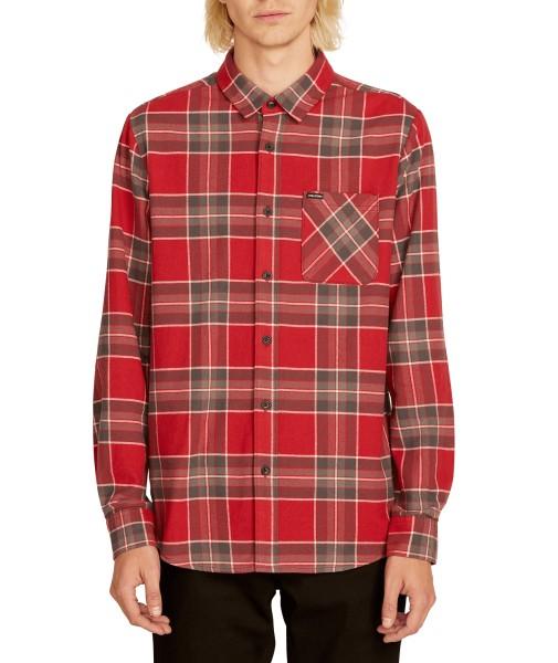 Caden Plaid - Volcom - burgundy - Herren Hemd langarm