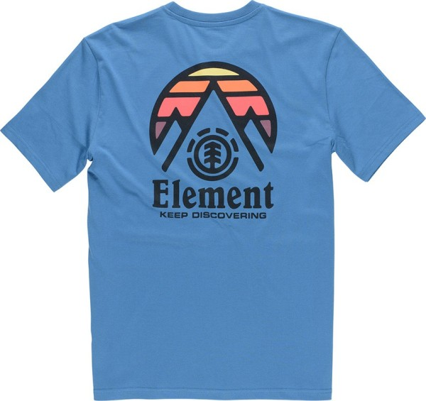 Element - TRI TIP - Streetwear - Shirts & Tops - T-Shirts - vallarta blue