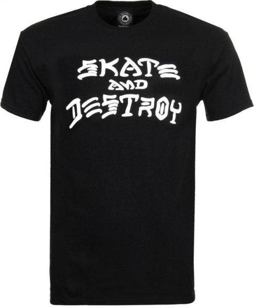 Trasher - Skate and Destroy - Streetwear - Shirts & Tops - T-Shirts - black