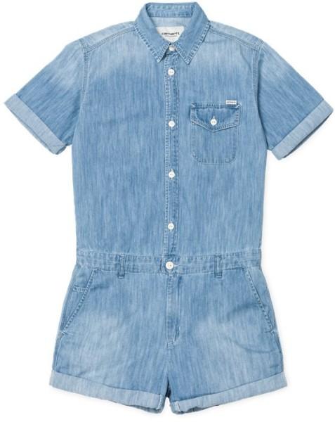 Carhartt - W' S/S Jill Short - Damen - Jumpsuit - Shorts - Blue prime bleached