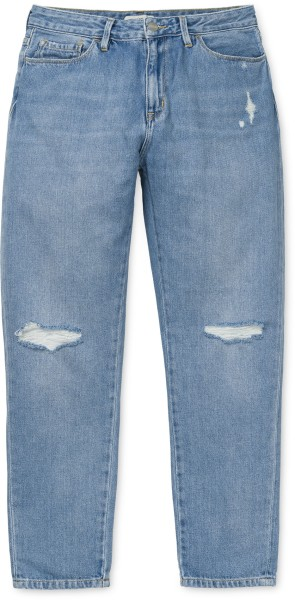 Carhartt - W' Domino Ankle Pant - Streetwear  -  Jeans  -  Relaxed Fit - blue fight light stone washed