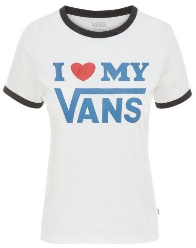 Love Ringer - Vans - white/black - T-Shirts