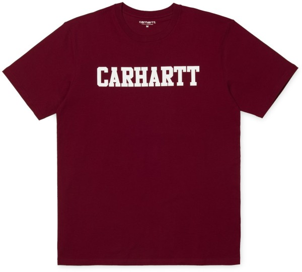 Carhartt - College T-Shirt - mulberry white - streetwear - shirts&tops - t-shirt