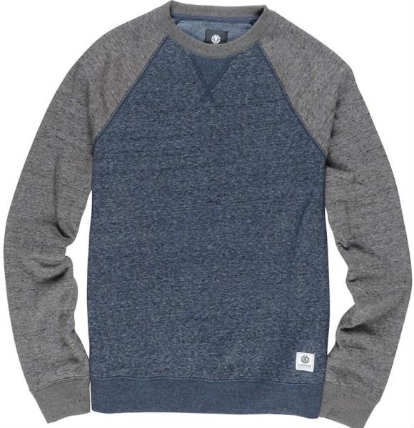 Element - Meridian Block - Streetwear - Sweaters - Crew Sweaters - indigo