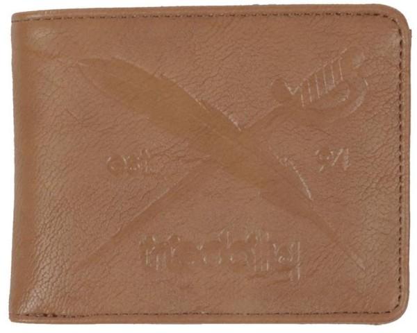 Iriedaily - Flag 2 Punch Wallet - Accessories - Geldtaschen - Kunstledergeldtaschen - Brown