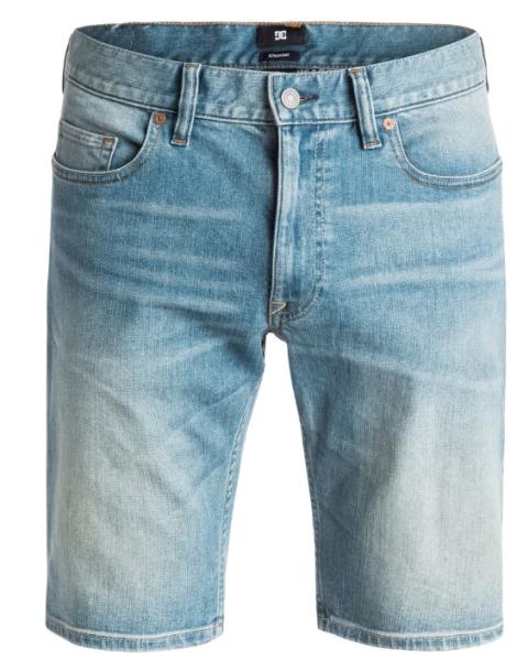 DC - Washed Straight - Jeans Short - Indigo Bleach - DC Washed Straight Jeans Short von DC - DC Washed Straight Shorts - Indigo Bleach Jeans Shorts