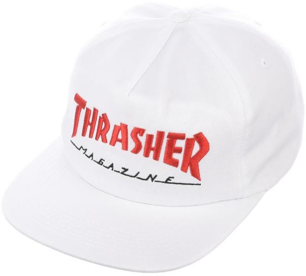 Thrasher - Two Tone Magazine Logo Hat - white red - weiß rot