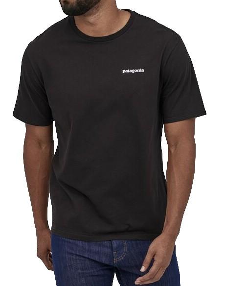 P-6 Logo Organic - Patagonia - BLACK - T-Shirt