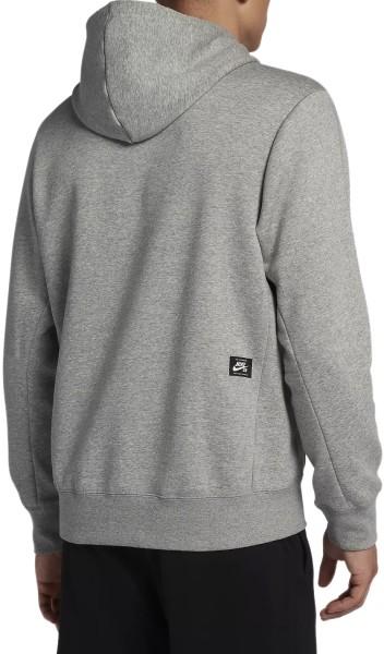 Nike SB - Icon - DK Grey heather black - grau - streetwear - sweater - kapuzenpullis
