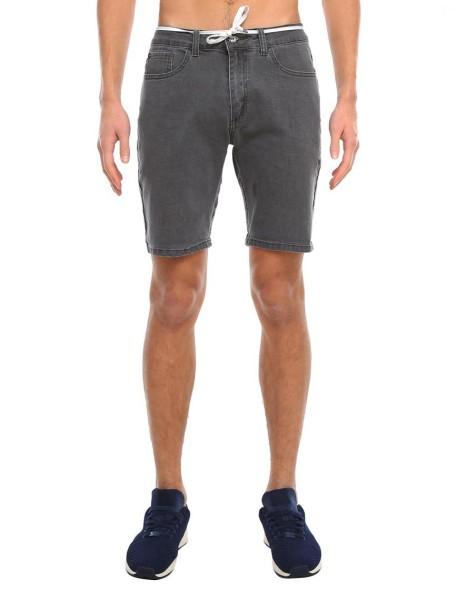 Iriedaily - Slim Shot2 Denim Short - Streetwear - Shorts - Jean Shorts - anthracite