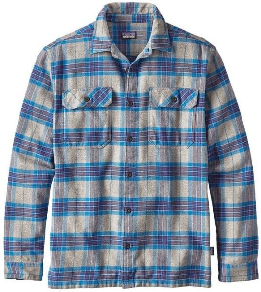 Patagonia - Fjord Flannel - Streetwear - Hemden - Hemden Langarm - andes blue