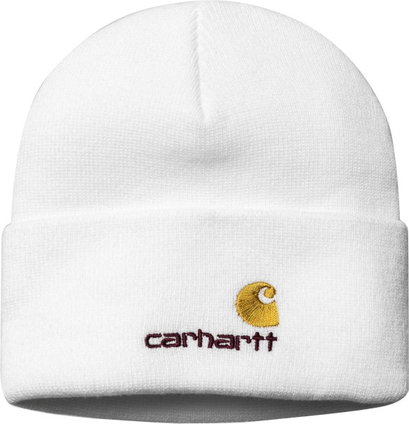 Carhartt - American Script Beanie - White - weiß - Accessories - Mützen - Beanies