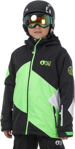Picture - Seattle Jacket - black green - picture jacke - kinder funktionsjacke - kids snowpant - kids snowjacket