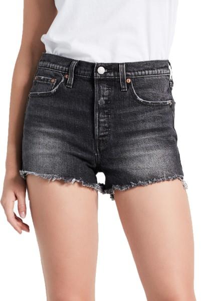 Levis - 501 Highrise Short - Black - Jean Shorts