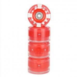 Sunset - LED Wheels 65mm 78A - Longboard Wheels - red