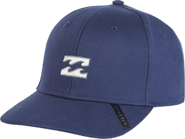 Billabong - All Day Heather Stretch Cap - Accessories  -  Caps  -  Snapback Caps - Navy Heather