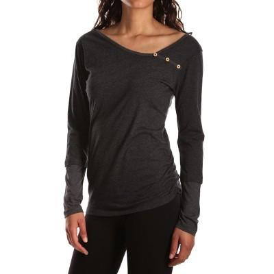 Asym Button LS - T-Shirt Langarm - Iriedaily - Anthra Melange