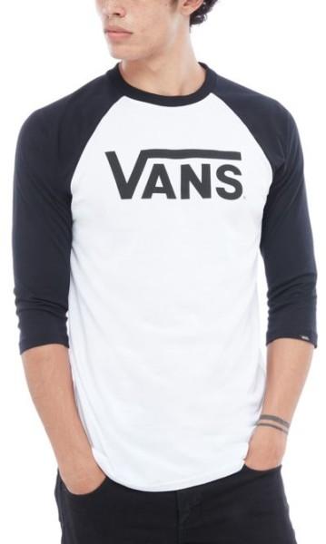 Vans - Vans Classic Raglan - black white - white black - schwarz - weiß - streetwear - longsleeve - herren - raglan