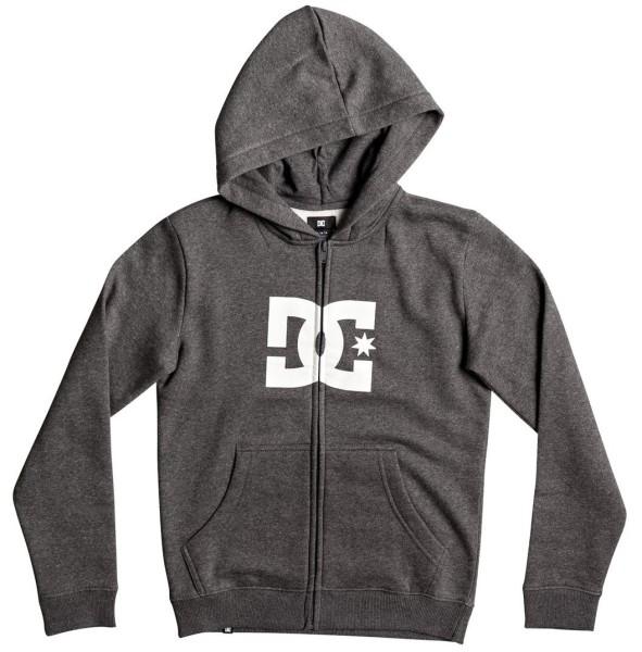 DC - Star ZH Boy - Streetwear - Sweaters - Zip Hoodies - charcoal heather