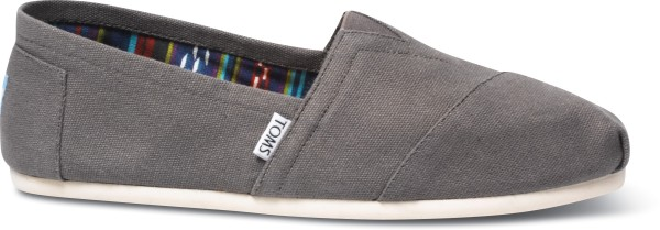 ASH CANVAS WM CLSC ALPRG NL - Slippers - Toms - Ash