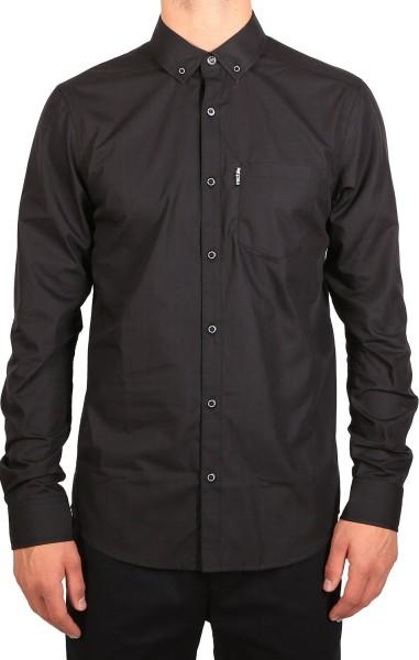 Iriedaily - Irie City LS Shirt - Hemden Langarm - Uni Black