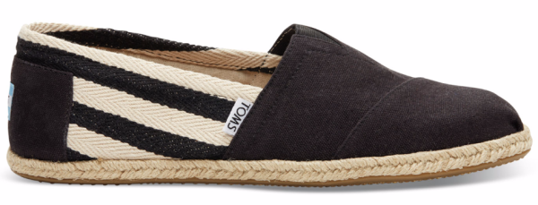 BLACK STRIPE UNIVERSITY WM CLSC ALP - Schuhe - Toms - Black Stripe