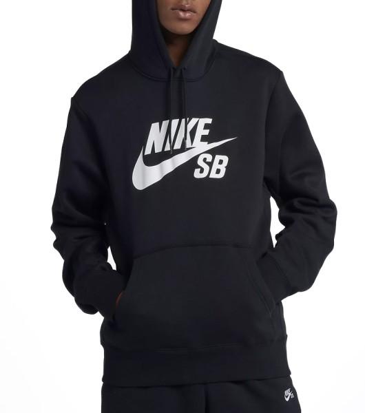 Nike SB - Icon Hoodie - black white - streetwear - sweater - kapuzenpullis