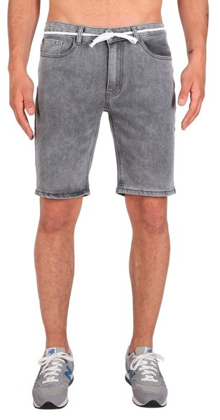 Iriedaily - Slim Shot2 Denim Short - Short - Grey Bleach Wash