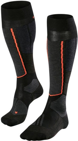 Falke - ST4 Wool - Snowwear - Funktionswäsche - Technische Socken - black mix