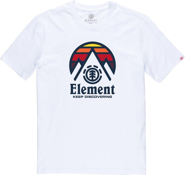 Element - Cliff - Streetwear - Shirts & Tops - T-Shirts - optic white