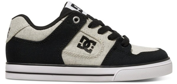 DC - Pure - Herren Skateschuh - Black/White/Black