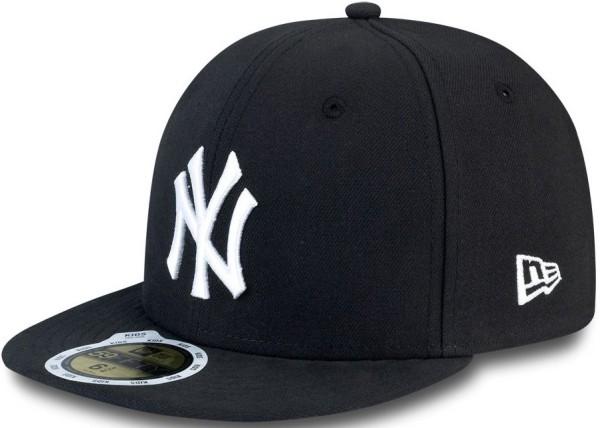 New Era - MLB LEAGUE BASIC - Accessories - Caps - Fitted Caps - black/white