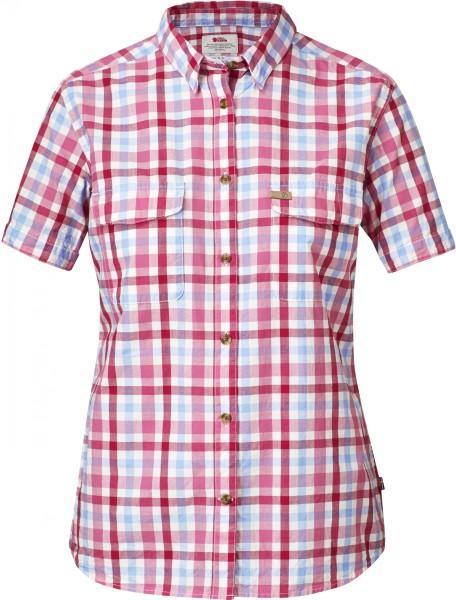 Fjäll Raven - Övik SS Shirt - hibiscus - karierkt - sommerhemd damen - wanderhemd