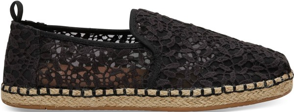 Toms - Deconstructed Alpargata Rope - Schuhe - Straßenschuhe - Slippers - black lace leaves