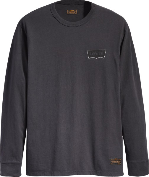 Levis - Skate Graphik LS Tee - Black Core Batwing B - T-Shirts Langarm