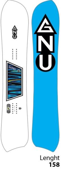 GNU - CC ZOID GFY ASS DEX - Snowboard - Freeride RC Hybrid - 158