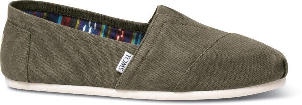 Olive Canvas - Tom`s - Schuhe