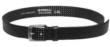 Reell - Punched Belt - Accessories - Gürtel - Kunstledergürtel - black
