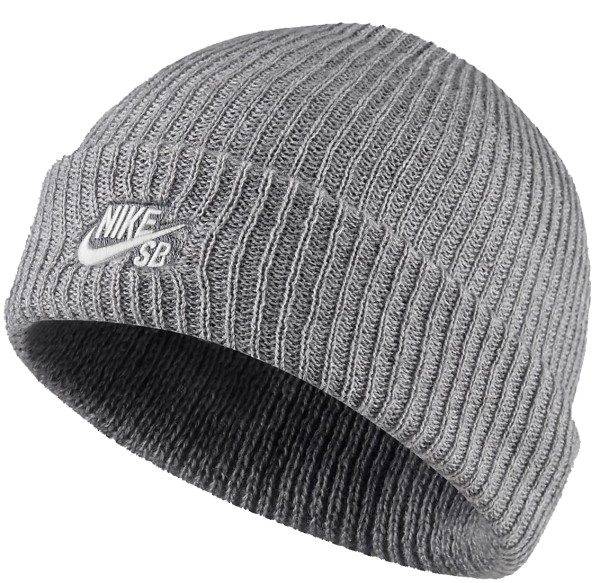 Nike - Sb Fisherman Beanie - Accessories  -  Mützen  -  Beanies - grey heather/white