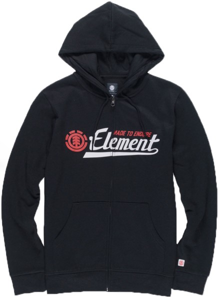 Element - Signature - Streetwear - Sweaters - Zip Hoodies - flint black