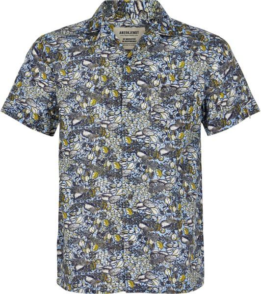 Anerkjendt - Leo Shirt - 3029 Forget Me Not - Hemden Kurzarm