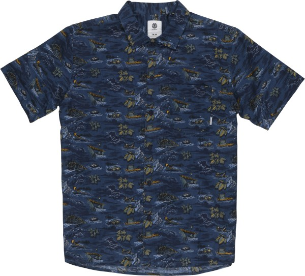 Element - Wendel SS - Streetwear - Hemden - Hemden Kurzarm - River Rats Blue
