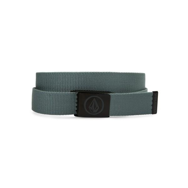 Volcom - Circle Web Belt - lead - blau - grün - männer - damen - herren - frauen - stoffgürtel - gürtel - accessoire